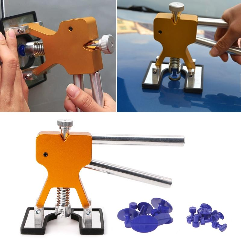 Adjustable Paintless Car Body Dent Lifter Puller Hail Removal Repair Tool + Glue Tabs Automotive Repair Tool Dent Lift By Powerful-Enterprise.