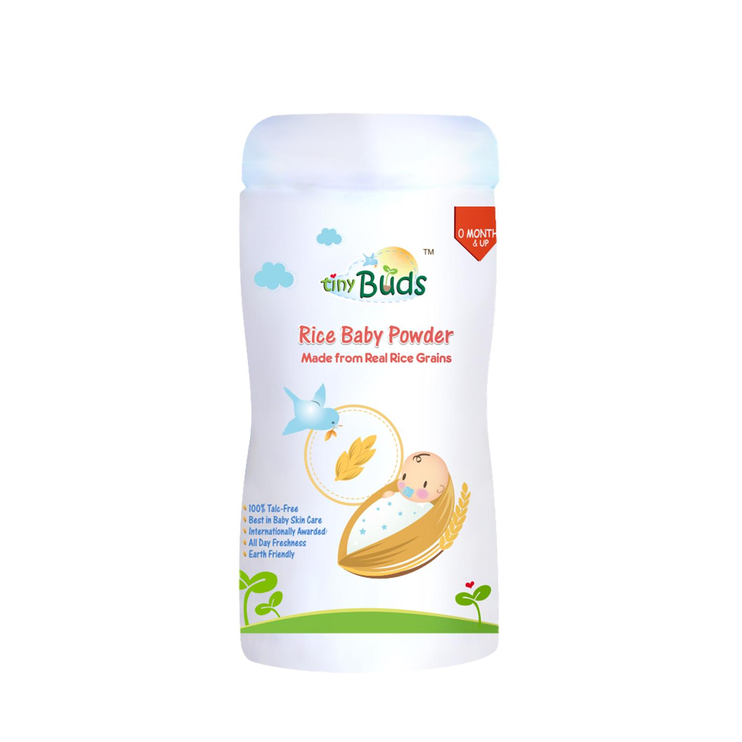 Tiny Buds Rice Baby Powder (non-Talc) By Tiny Buds Baby Naturals.