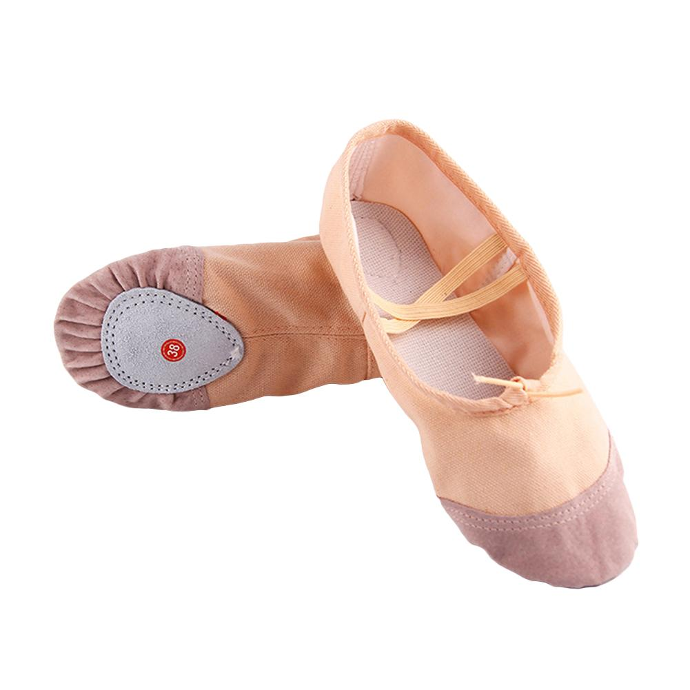 e499eb608bf9 EM Ballet Dance Dancing Shoes Pointe Soft Flats Yoga Shoes Comfortable  Breathable Slippers for Children Kids