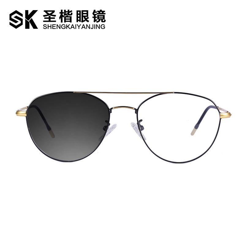 Photochromic Glasses man Cool Twin Beams Large Box women Korean Style Fashion with Finished Product Myopia