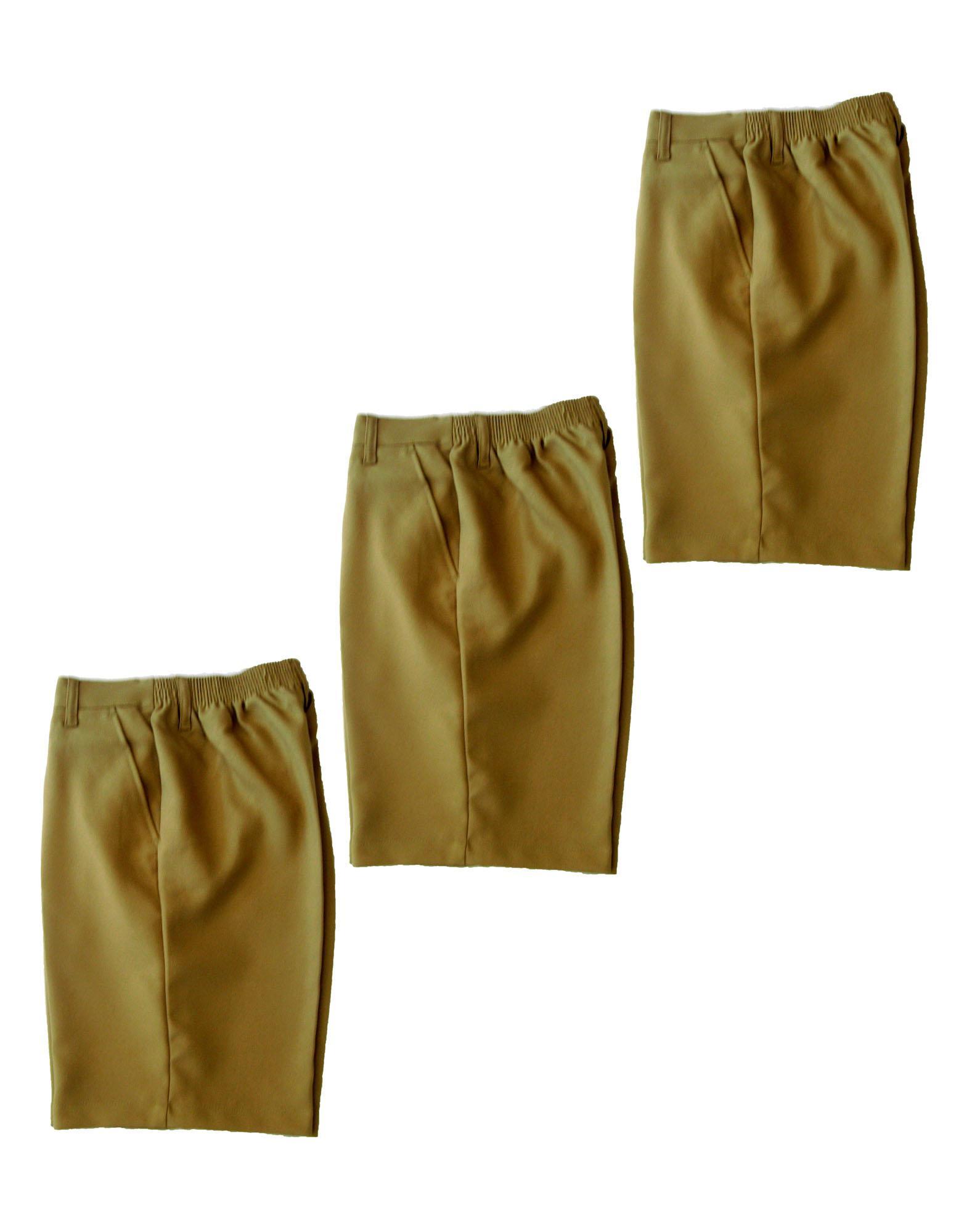 Henson School Uniform Boys Short Pants Khaki Set Of 3 (size: 4-12 Yrs) By Uniforms At Work.