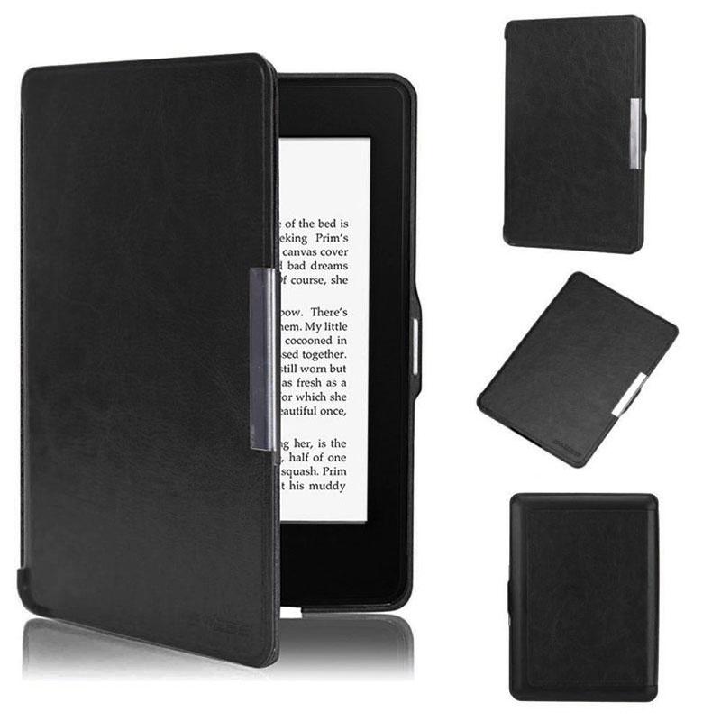 the best attitude d3dde 261e3 Leather Smart Case Cover For New Amazon Kindle Paperwhite 5 Black