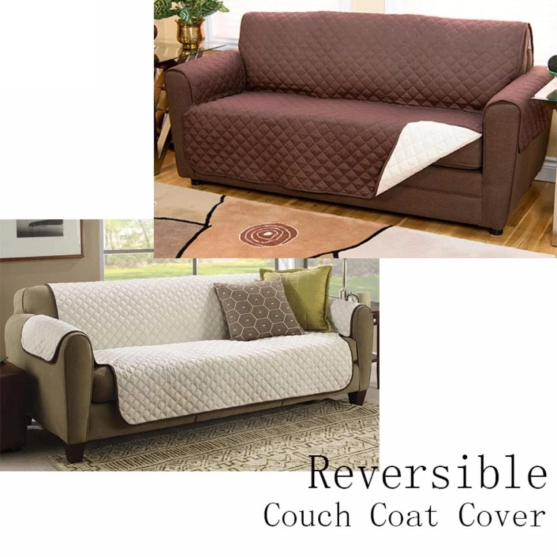 Couch Coat Reversible Sofa Cover (Double Seat)