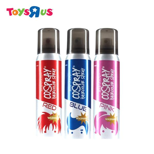 Cospray Washable Hair Color Spray Bundle 4 (red, Blue, Pink) By Toys R Us.