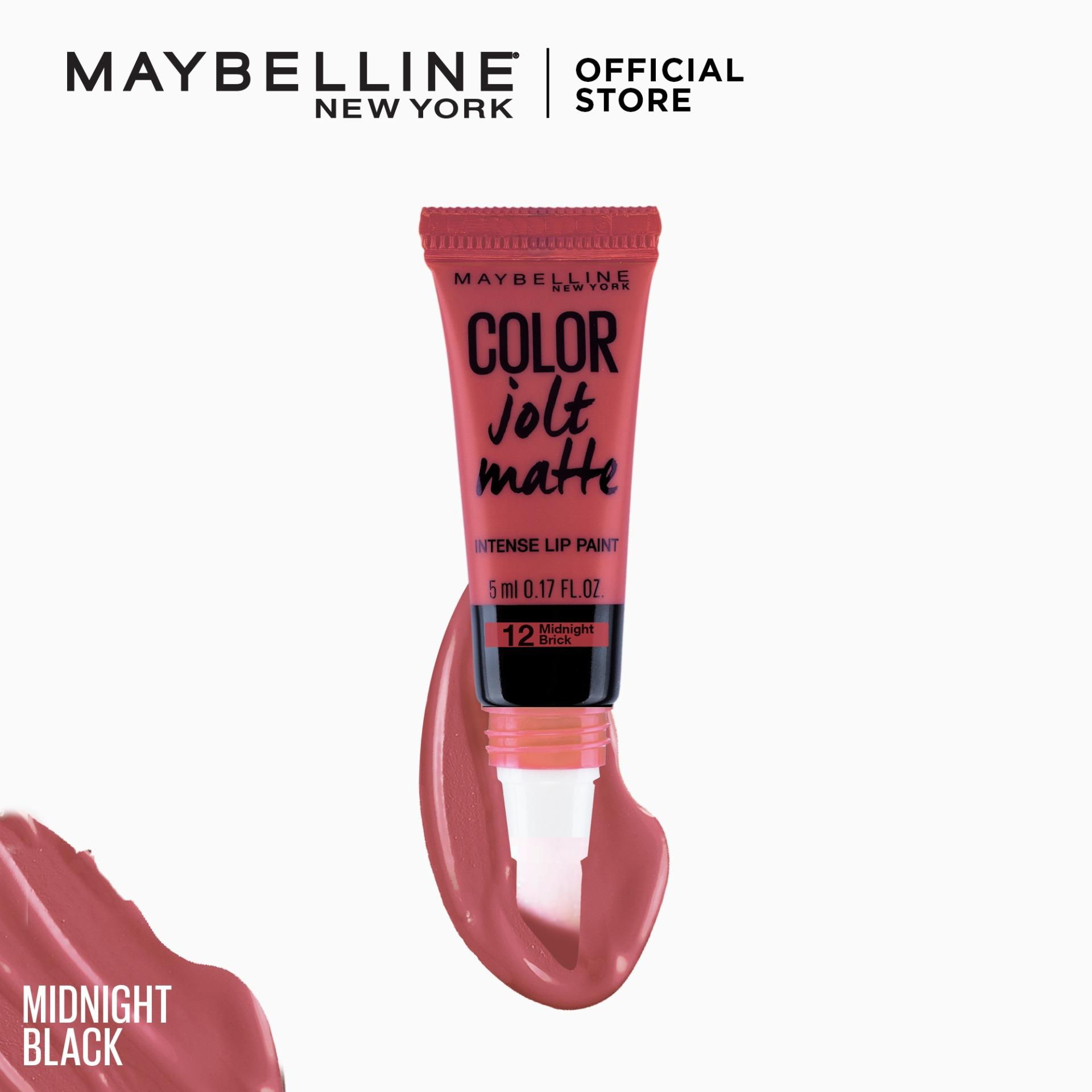 Color Jolt Matte Lip and Cheek Tint – 12 Midnight Brick [#PaintItMatte] by Maybelline Lip Studio Philippines
