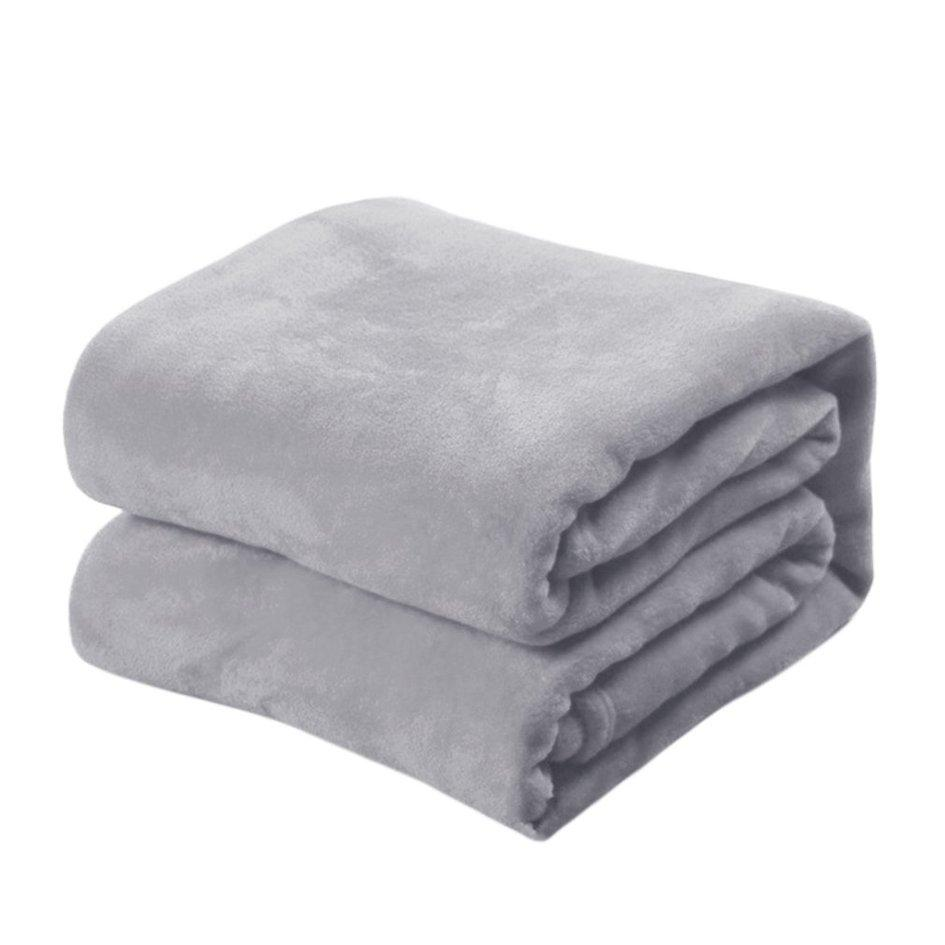 OH Flannel Sheets Quilt Soft Fashion Brand Bedclothes Coral Fleece Blanket Silver Gray 70*100cm