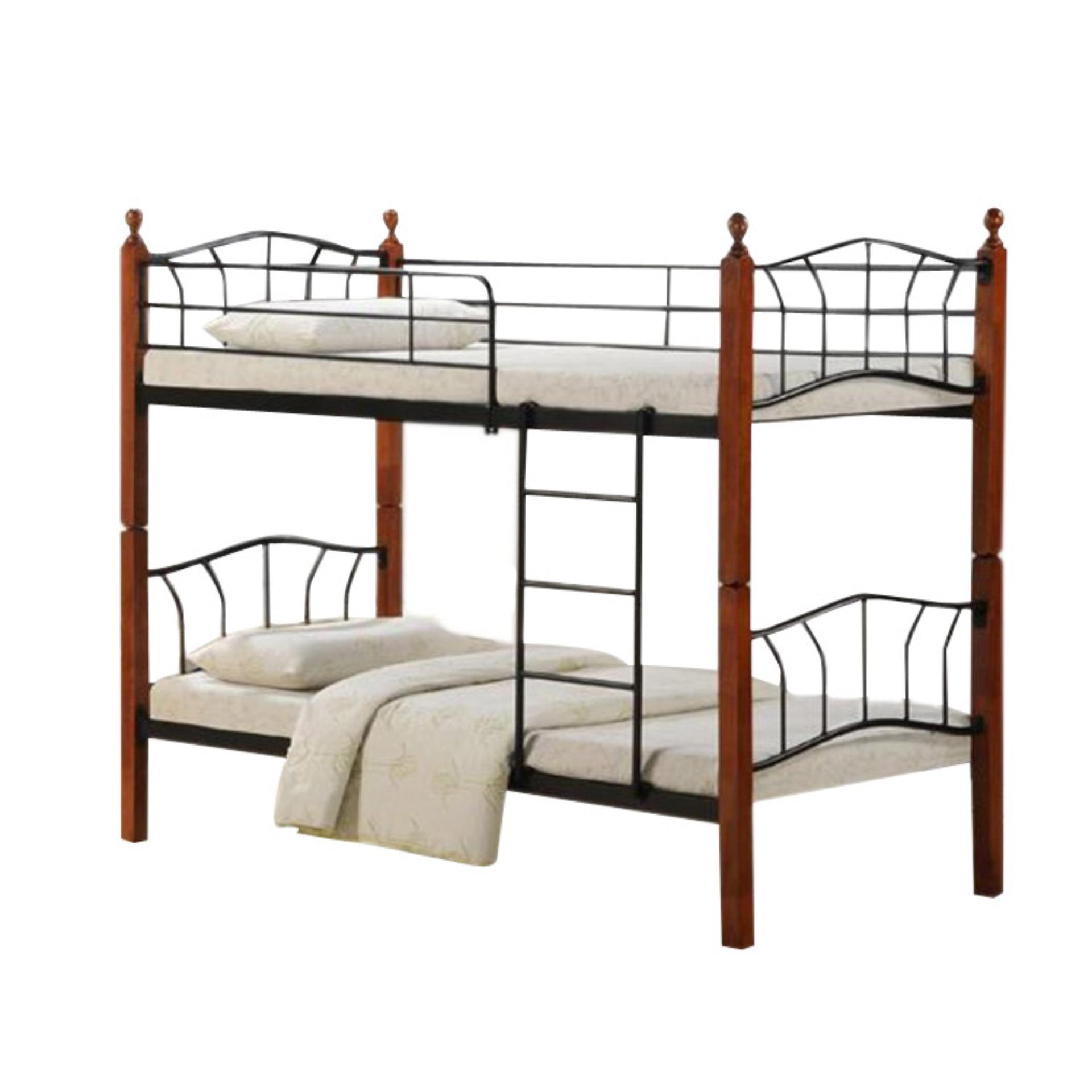 Longlife Nv13888dd Double Deck Bed Frame Only 36 X 75 Brown