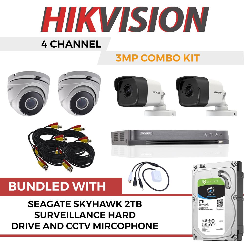 Buy Sell Cheapest Seagate Skyhawk Surveillance Best Quality Hardisk Cctv 1tb Hikvision 4 Channel 3mp Tubro Kit With 2tb Hard Drive And Microphone