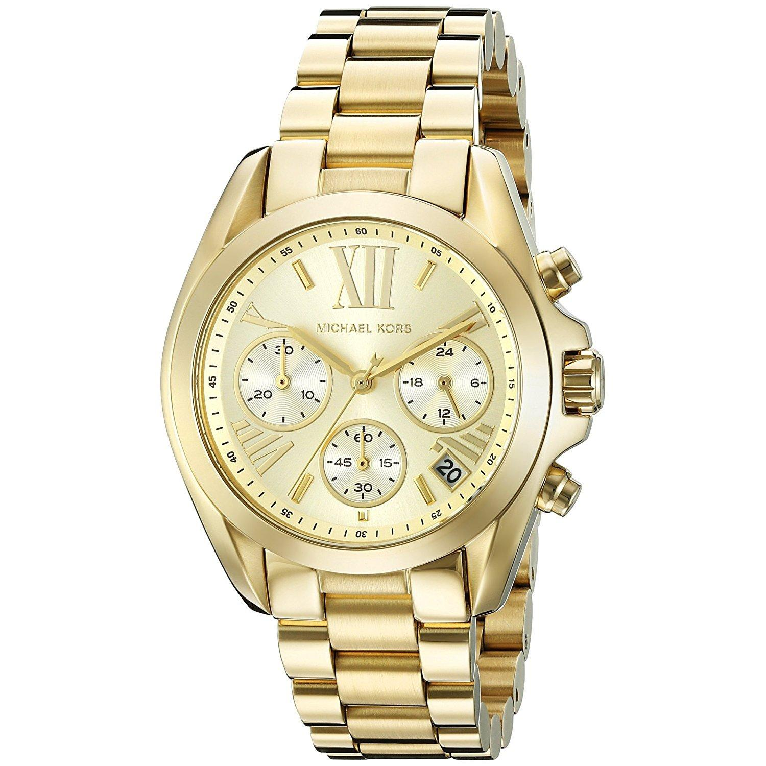 2364be2badae2 MK Michael Kors Mini Bradshaw MK5798 (All Gold) Stainless Steel Strap Watch  for Women