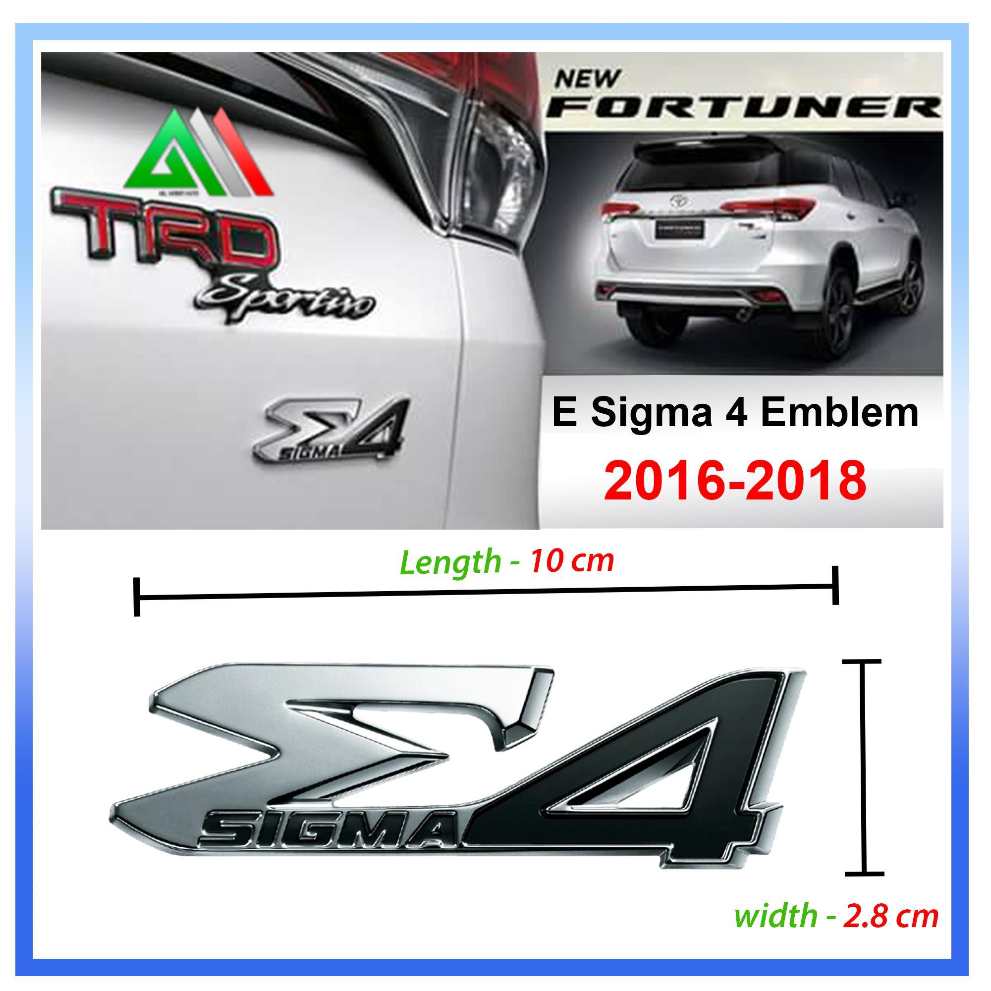 Genuine E Sigma 4 Emblem For Toyota Fortuner 2018