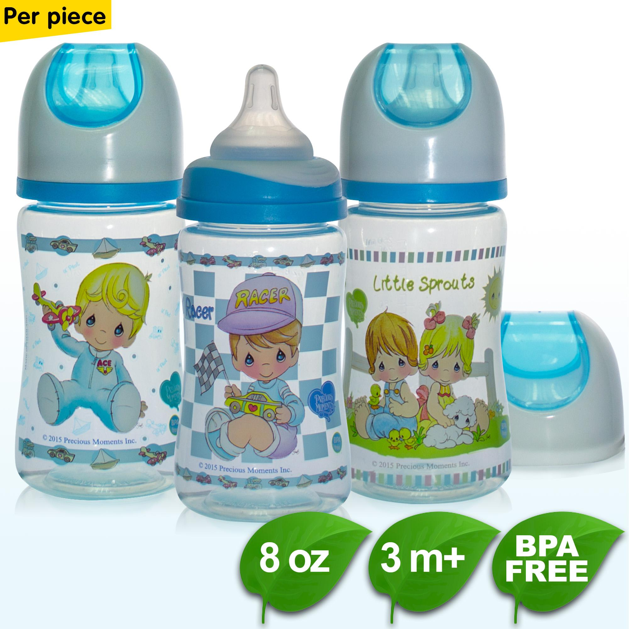 Bpa Free 8oz 2 Toned Hood Wide Neck Feeding Bottle - Tinted - Per Piece By Coral Babies.