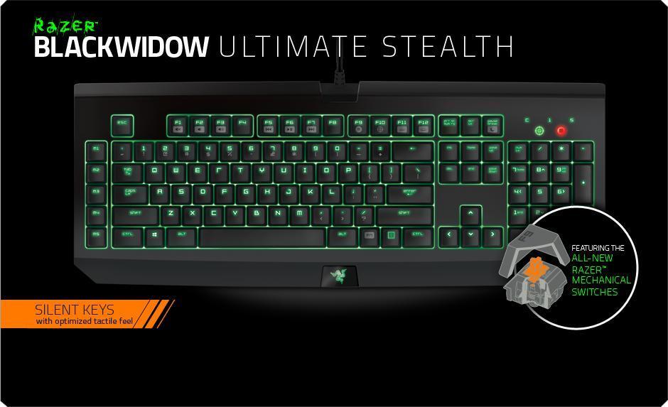 f314b5c6d6d Razer Blackwidow Ultimate Stealth 2016 Edition Gaming Keyboard ...