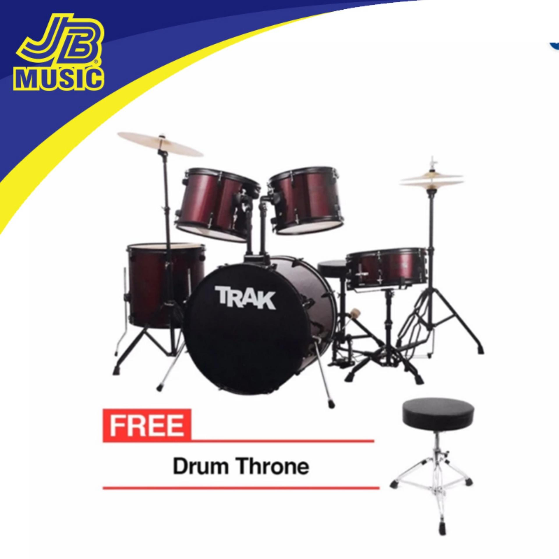 Drum Sets For Sale Rock Band Drums Best Seller Prices Brands In 1 Set Trak Jbp1601a 5pc Drumset Red
