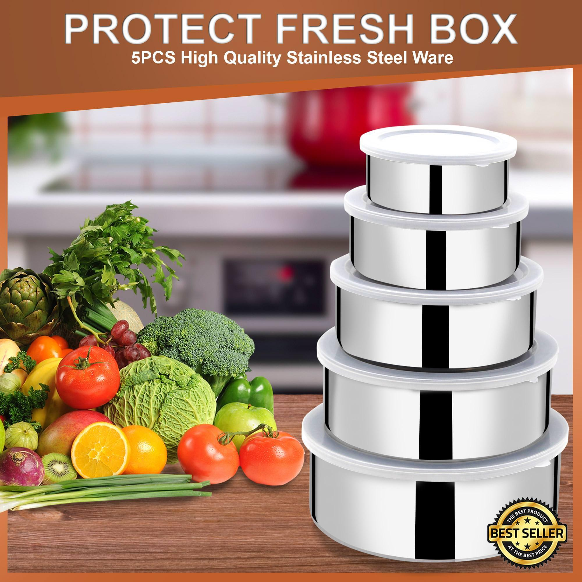 Protect Fresh Box 5 Pieces High Quality Stainless Steel Ware Set By Shop Easy Superstore.