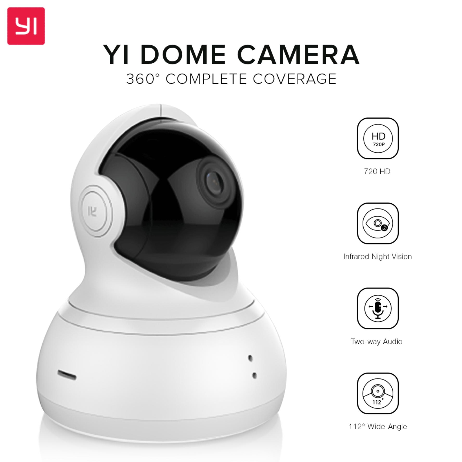 YI 360 Degrees Dome Home Smart Security Camera CCTV System (White) with  Discount Voucher