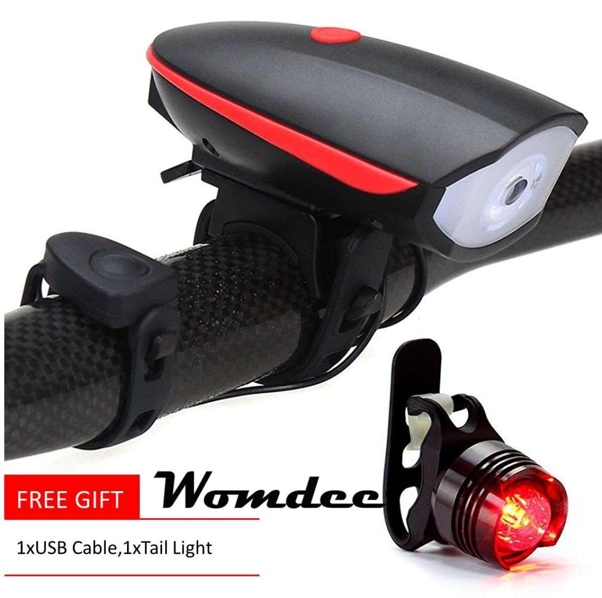 Bike Lights For Sale Cycling Online Brands Prices Wiring A 8 Wire Turn Signal W Horn Womdee Headlight With 120 Db And Tail Light Lover Ultra Brightness