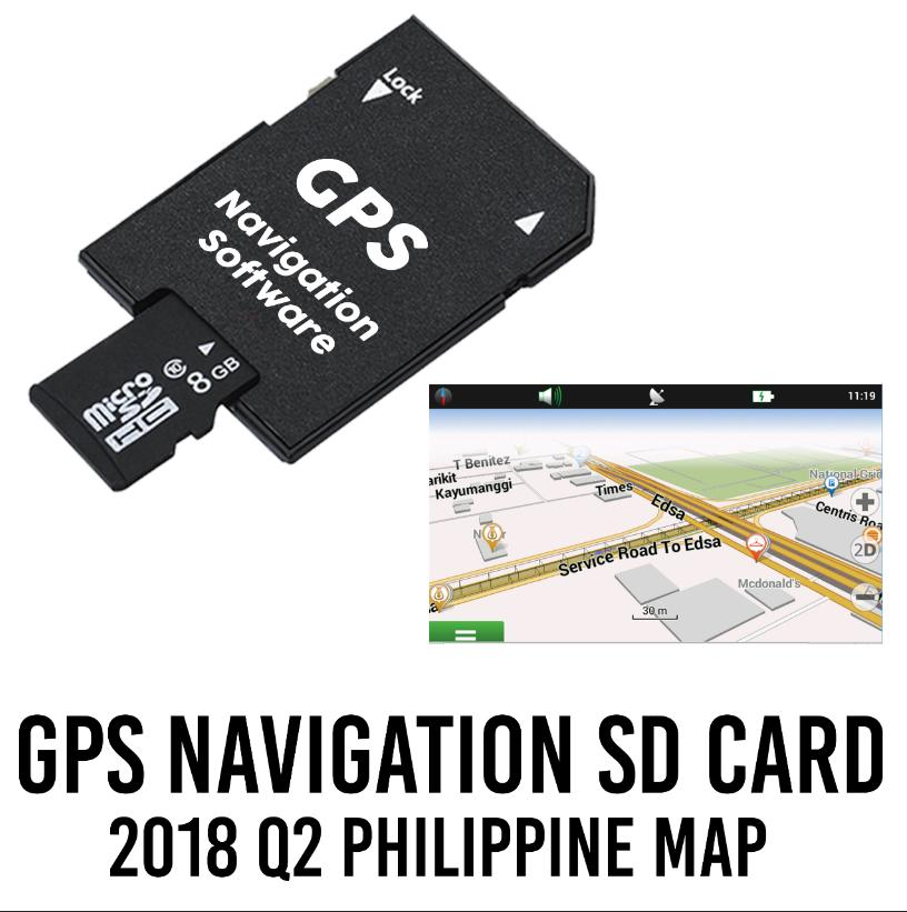 GPS Navigation SD Card - 2018 Philippine Map for Toyota and Mitsubishi
