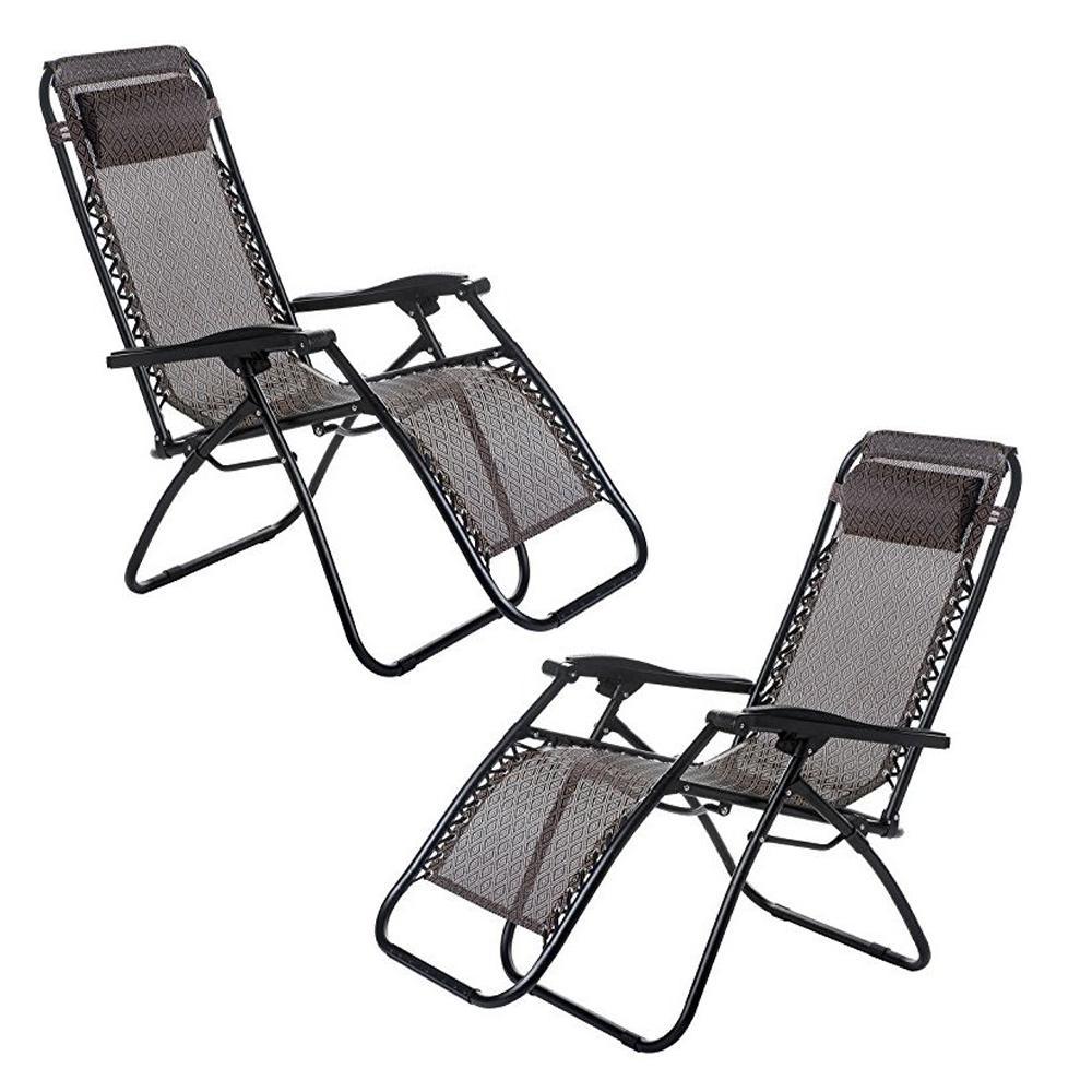 Groovy Melzki Zero Gravity Comfort Relax Recliner Chair Set Of 2 Black Evergreenethics Interior Chair Design Evergreenethicsorg