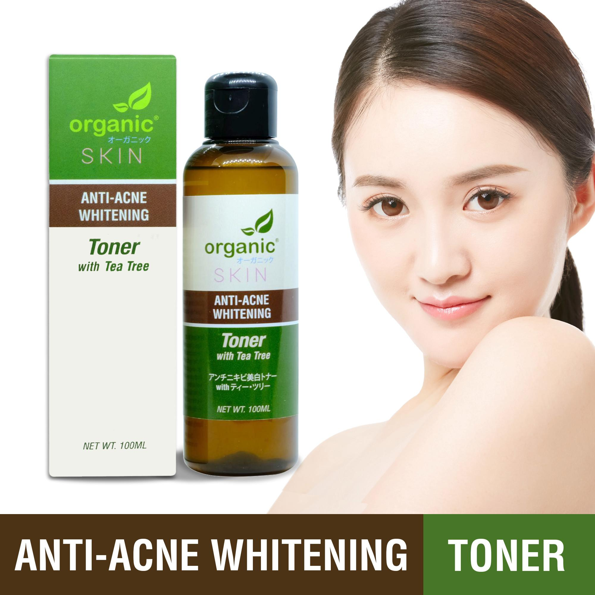 Organic Skin Japan Anti-Acne Whitening Toner With Tea Tree (100 Ml) Antiacne Anti Acne Antipimple Anti-Pimple Korean Japan Skincare Skin Care Gluta Glutathione Kojic Acid Kojicacid Witchhazel Gigawhite Organicskin By Organic Skin Japan.
