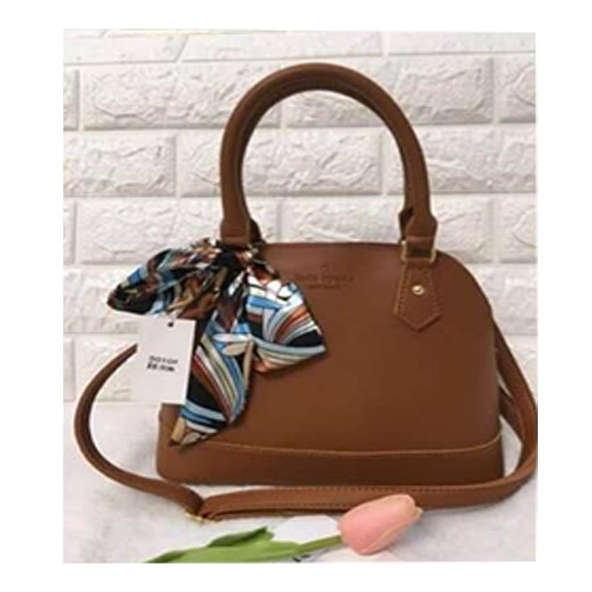 Ella  378 -  9912 Kate Newyork Famous Design Tote Bag With Casual Scarf  Ribbon be8531bcdf051