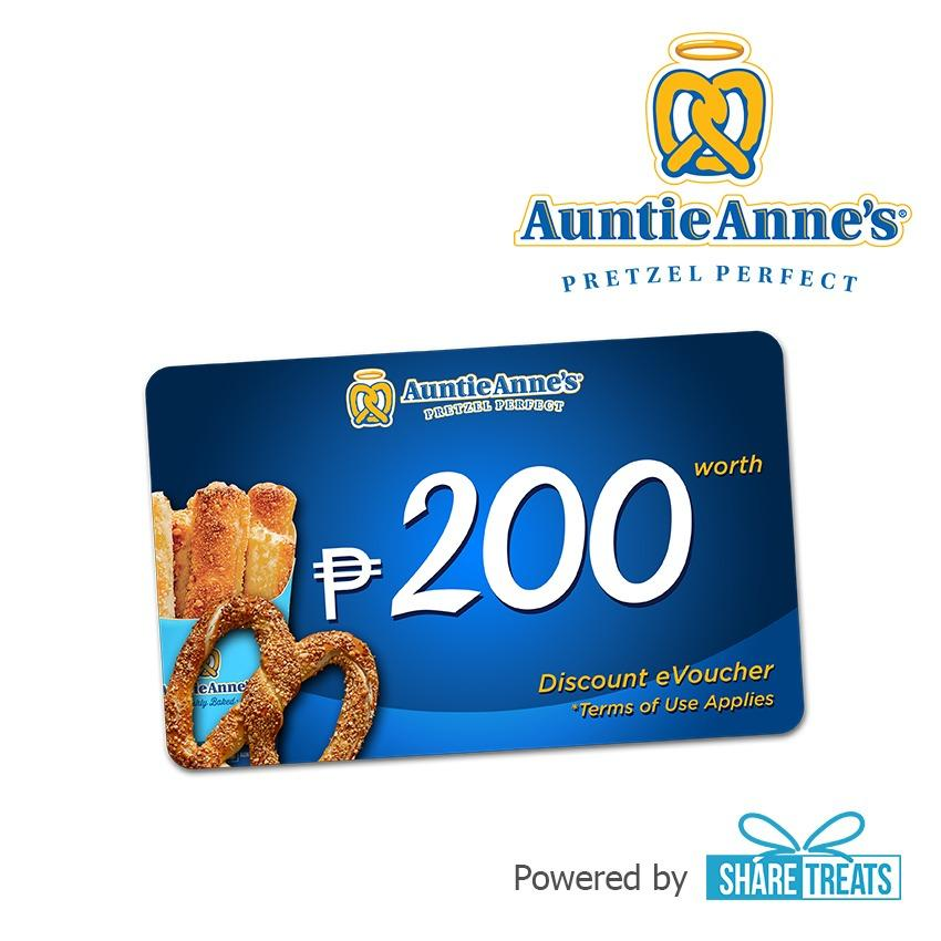 Auntie Annes Php200 Worth Sms Evoucher By Share Treats.