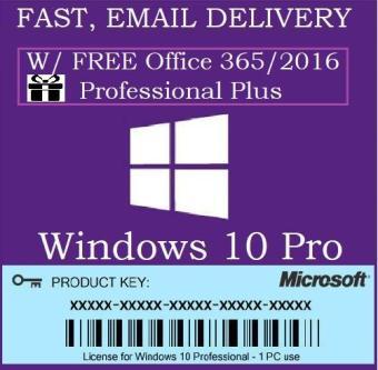 Windows 10 Pro Activation KEY 32/64 bit