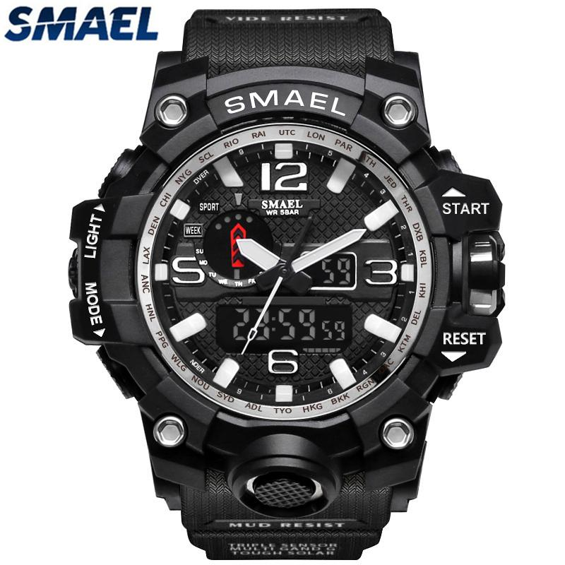dda566d447b SMAEL Brand Waterproof Sports Quartz Watch Men s Watches Fashion Casual Men  Military LED Digital Watch