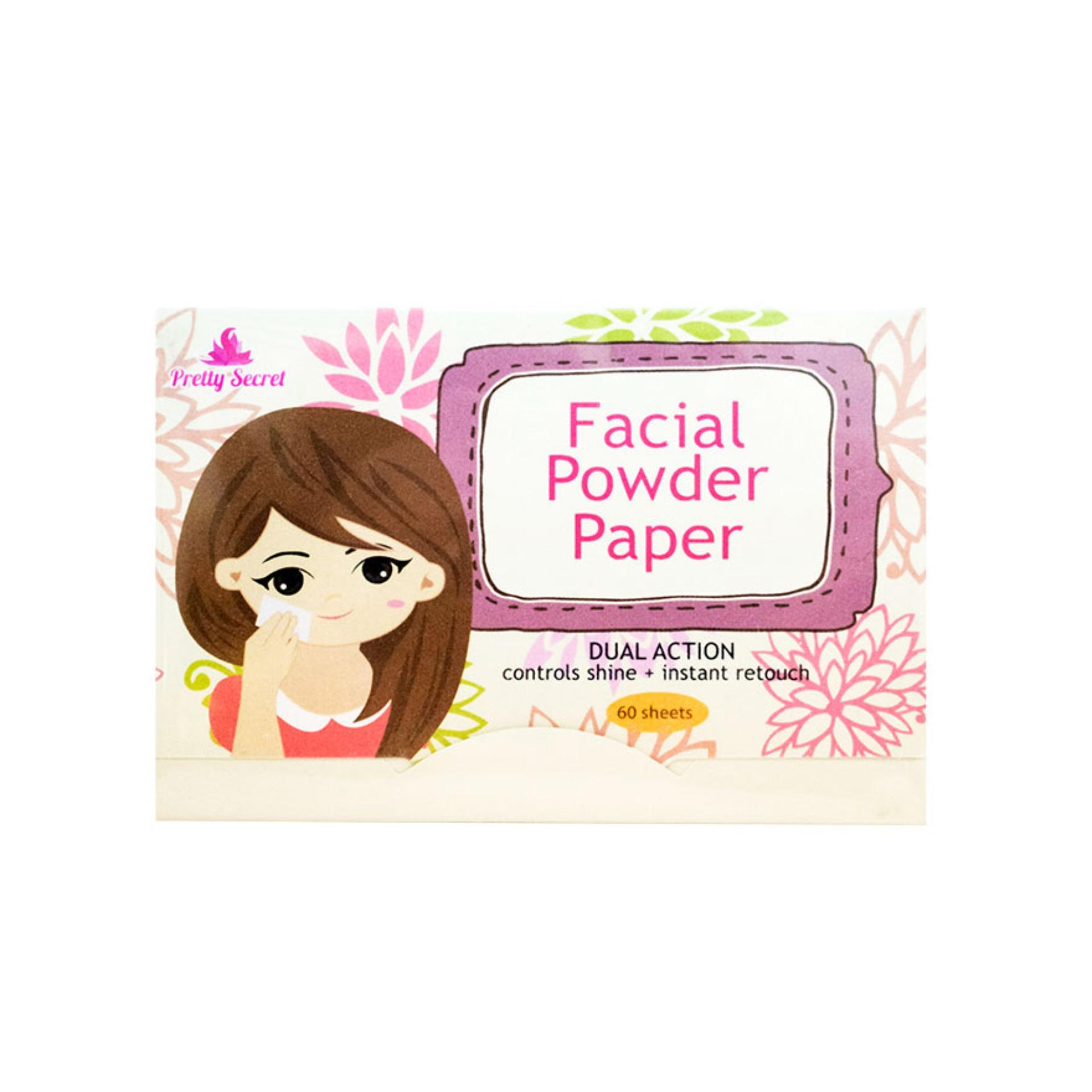 PRETTY SECRET Facial Powder Paper 60 sheets Philippines