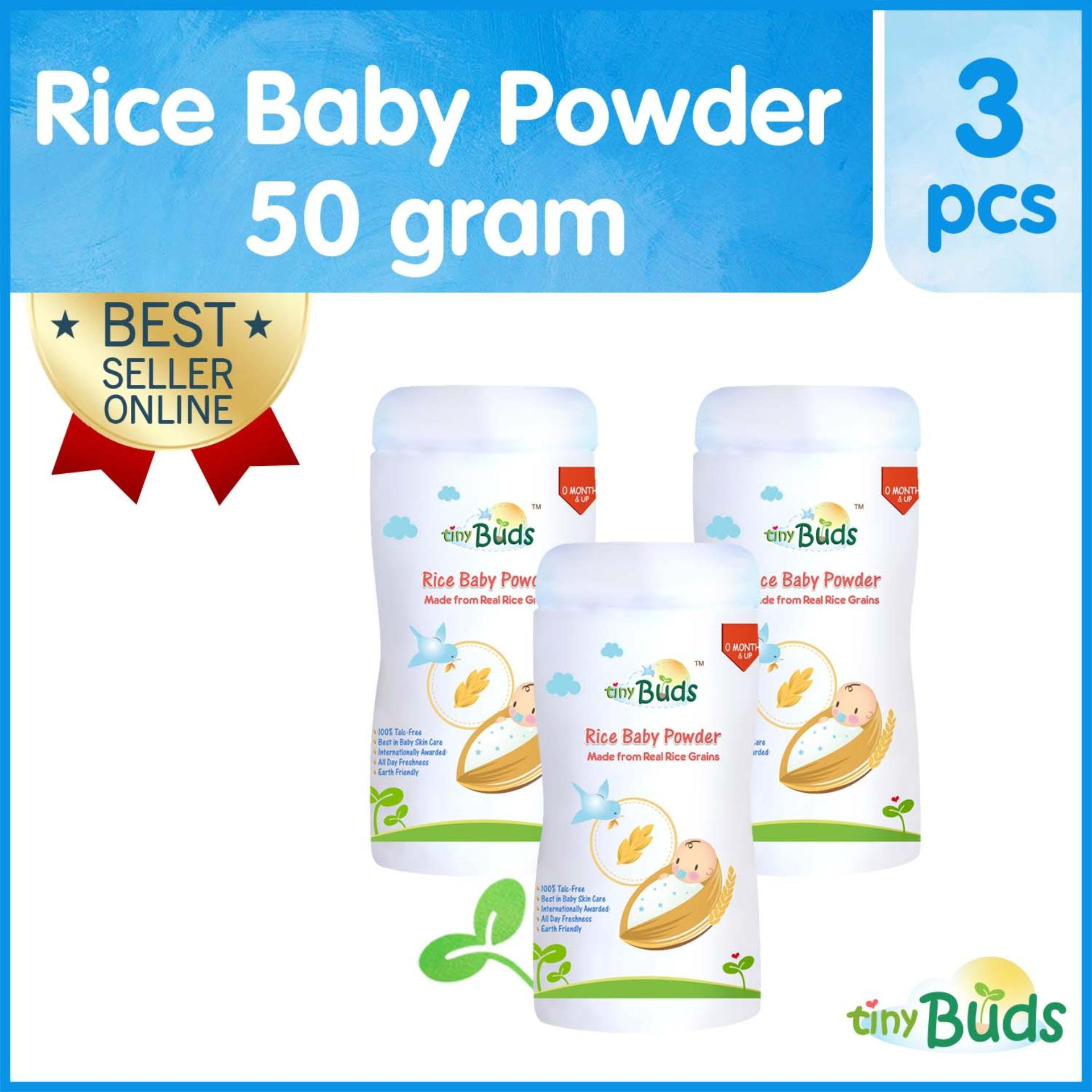 Tiny Buds Rice Baby Powder Set of 3 (Non-Talc)