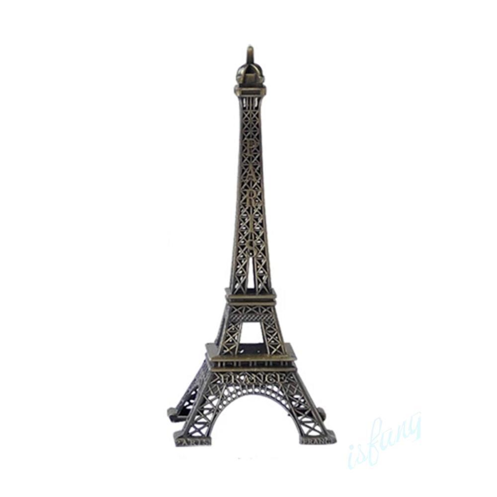 10CM Vintage Style Paris Eiffel Tower Design Bronze Metal Statue Figurine Home Party Decor