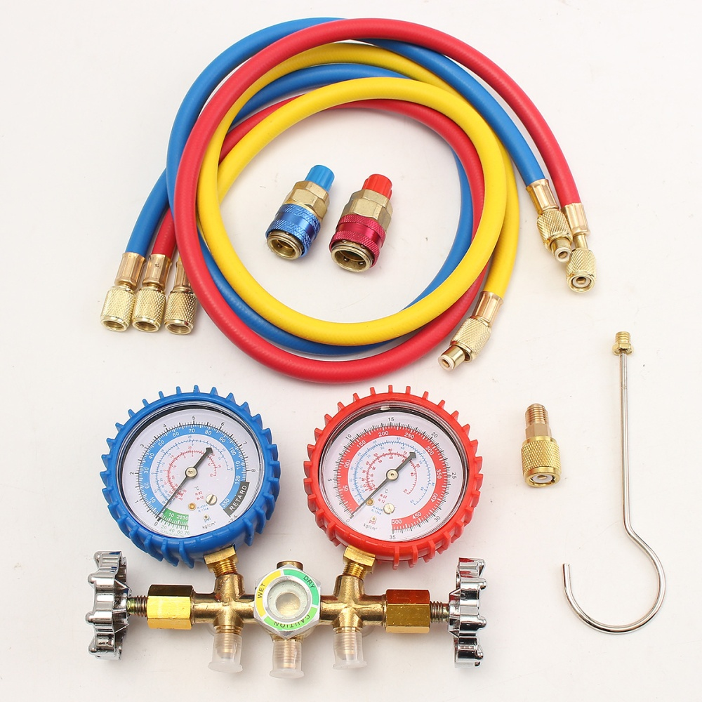 R134A to R12//R22 Car A//C Refrigerants Charging Hose Withe Gauge
