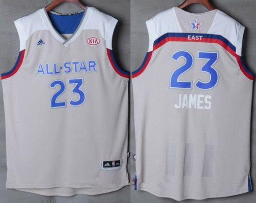 big sale ef859 8e789 All-Star Cavaliers LeBron James #23 Eastern Conference Gray Jersey
