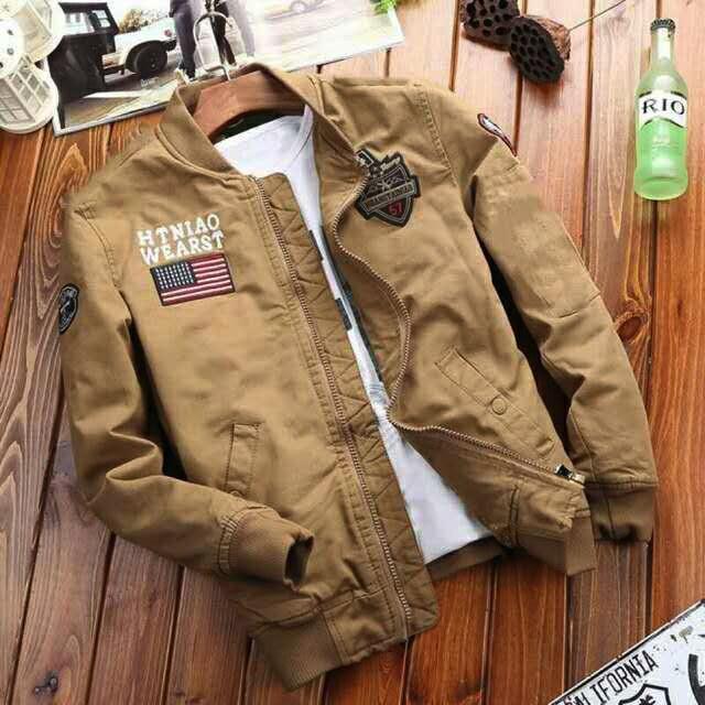 10b74cee4e 902#Green/Khaki/Black New Jacket/Cargo Jackets For Men