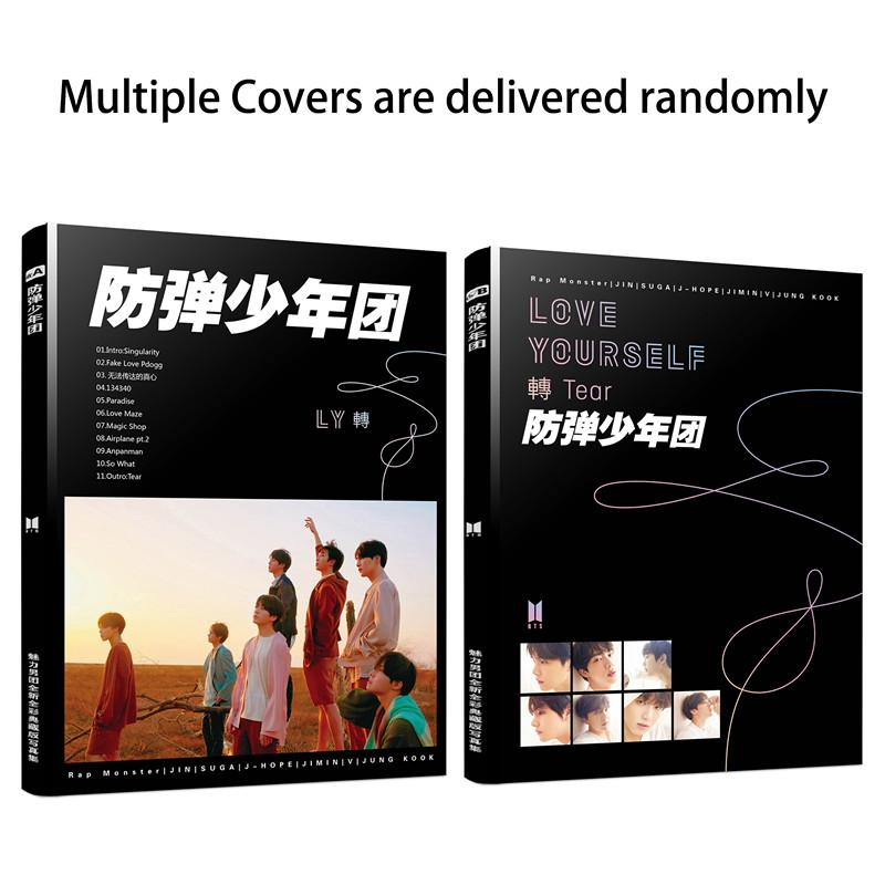 (Multiple Covers Are Delivered Randomly)BTS LOVE YOURSELF 轉 Tear Latest New  Album 80P Full Multicolor 16 Open Photo Album+ Poster +Bookmark(28 5*21CM)