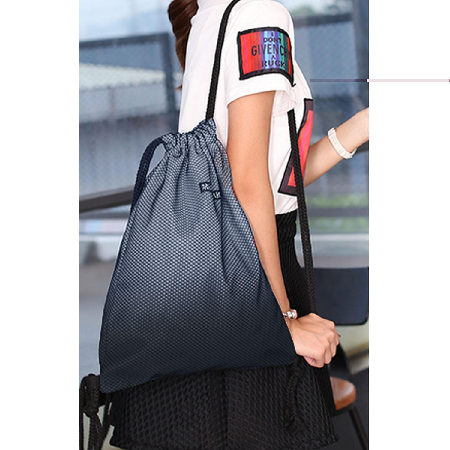 1f1304f05924 Philippines. Portable Polyester Drawstring Bag Leisure Travel Sports Gym  Lightweight String Backpack Gray - intl
