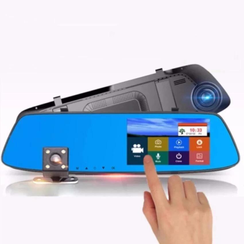 New Touch Screen Rearview Mirror Dash Camera A075 By Zmobile.