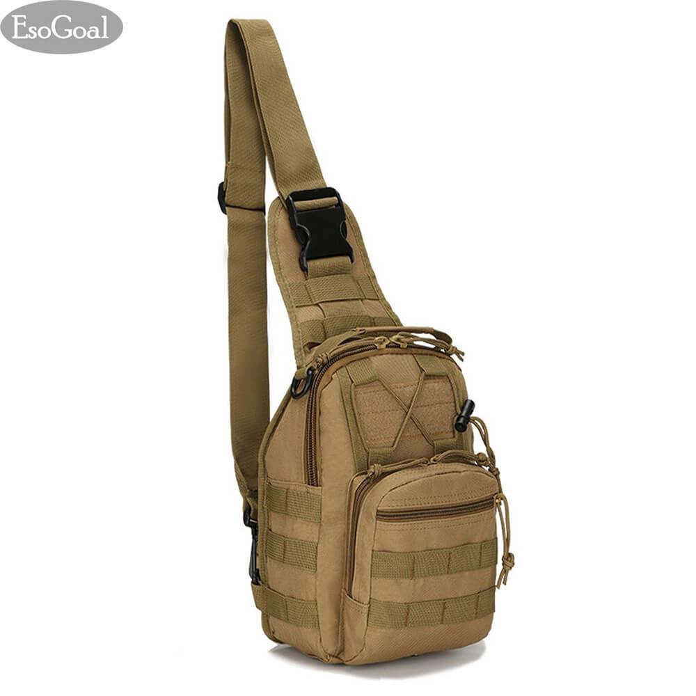 23fe4c3df2 EsoGoal Tactical Sling Bag Outdoor Chest Pack Shoulder Backpack Military Sport  Bag for Trekking