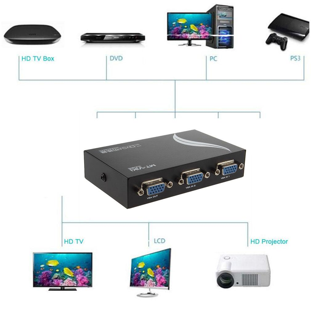 Oem Computer Switches Philippines Pc For Sale 2 Way Vga Switch Box Mini Road Port Svga Lcd Monitor To 1 Selector Free