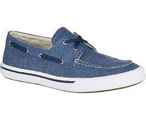 Sperry Mens' Striper II Boat Washed (Navy)