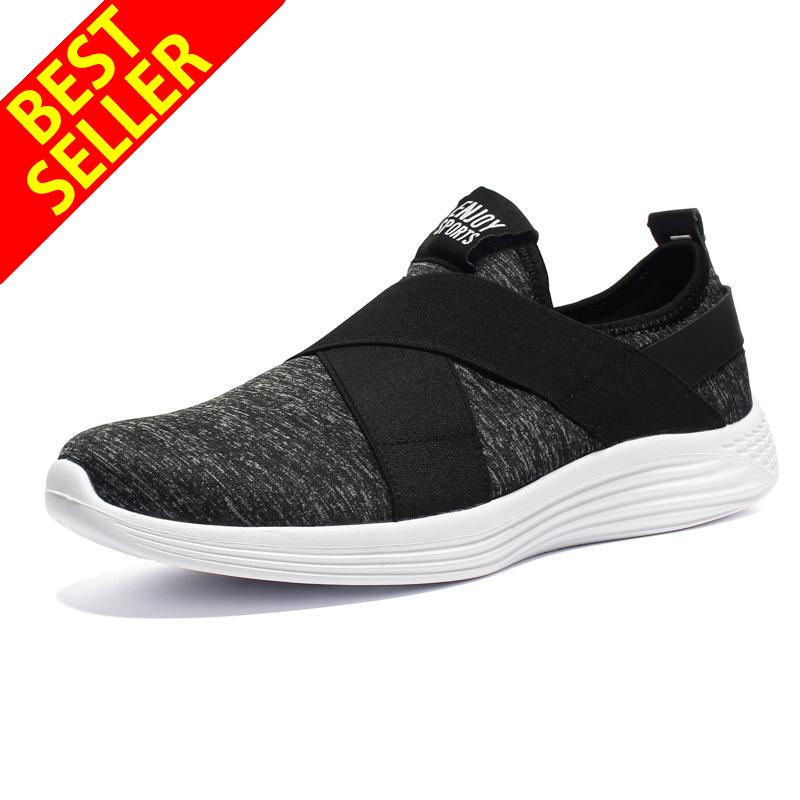 QINGSHUI Sneakers Breath Jogging for Men Lightweight Sports Running Shoes Slip-on Mens Trainers Walking