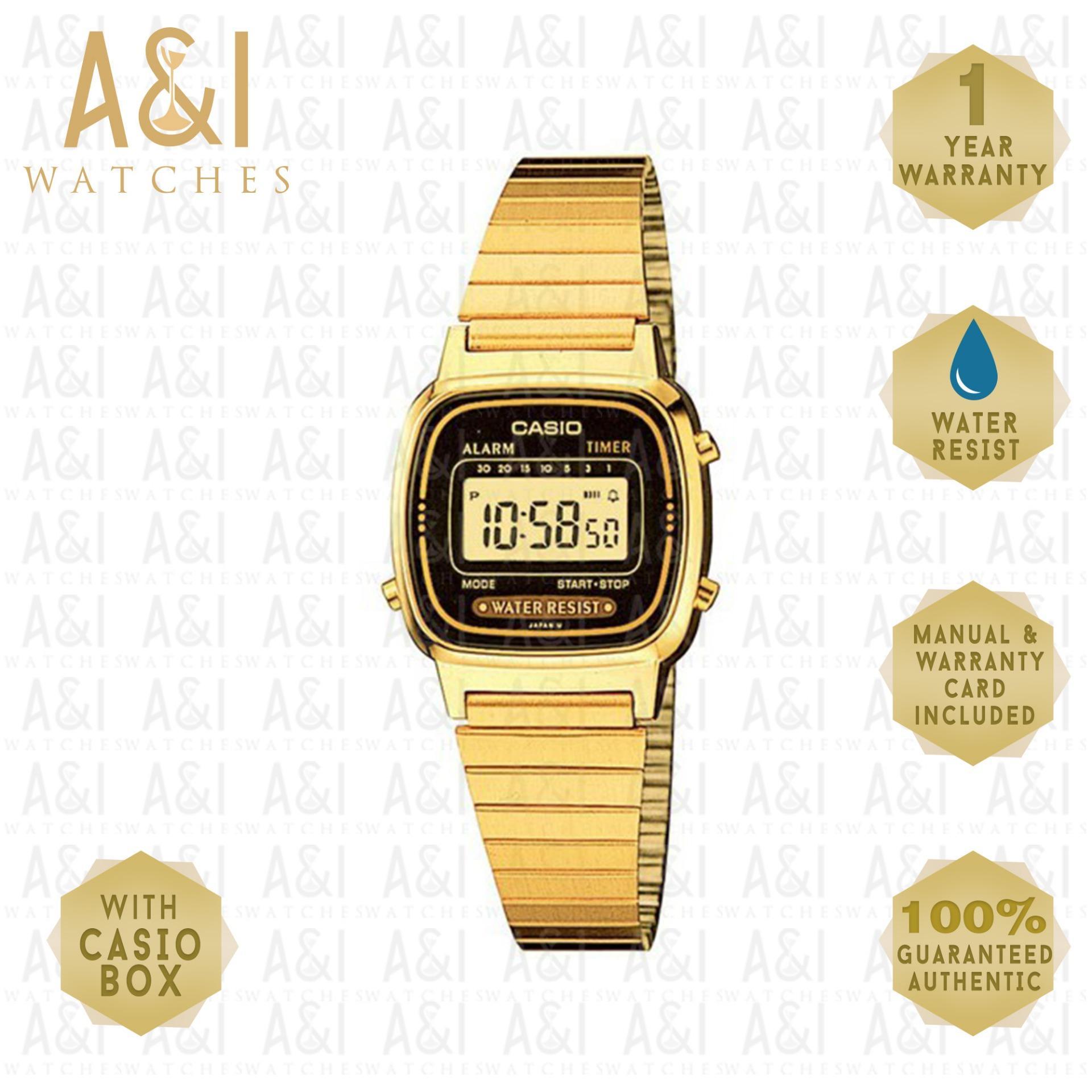 CASIO WOMENS CLASSIC GOLD LA670WGA-1DF 1YR WARRANTY