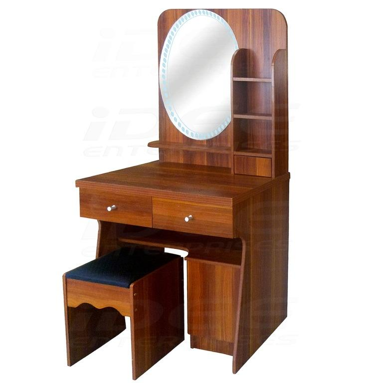 Tailee Furniture Dt 616 Dressing Table With Stool And Mirror Rosewood