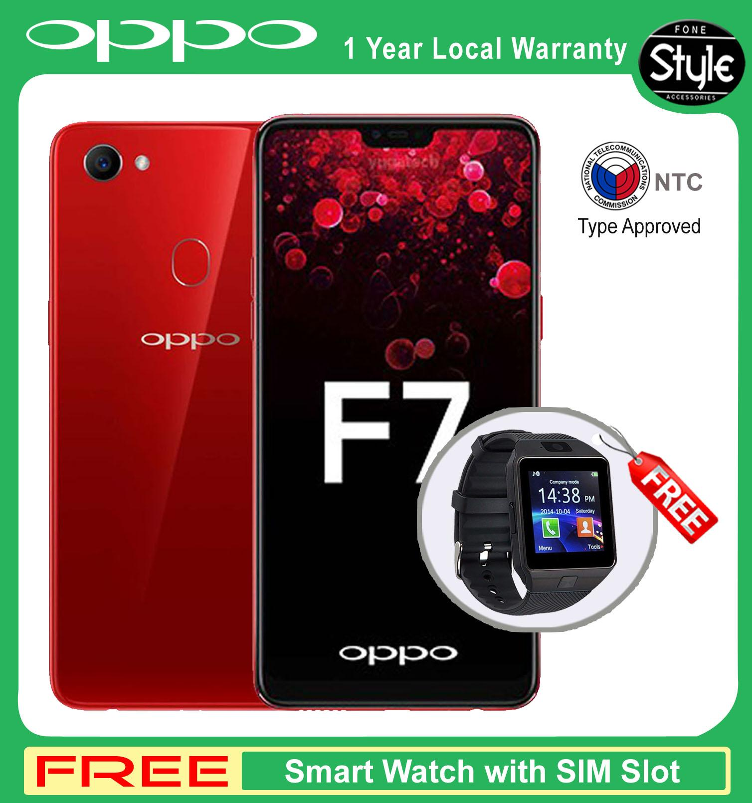"Oppo F7 6 23"" Mobile Phone 128GB with Free Sandisk 32GB Class 10"