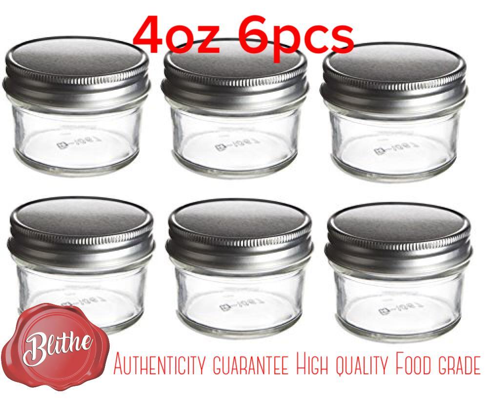 Mason Jars With Silver Lid For Storage Baby Food Souvenirs Birthday Wedding Diy Essential Oils