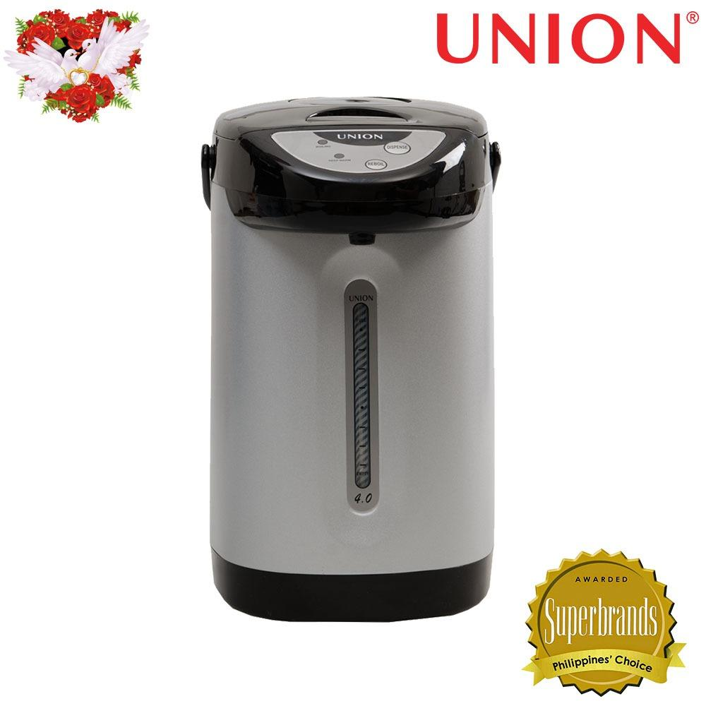 Union UGAP-4 4.0L Easy Touch Electric Airpot (Black/White)