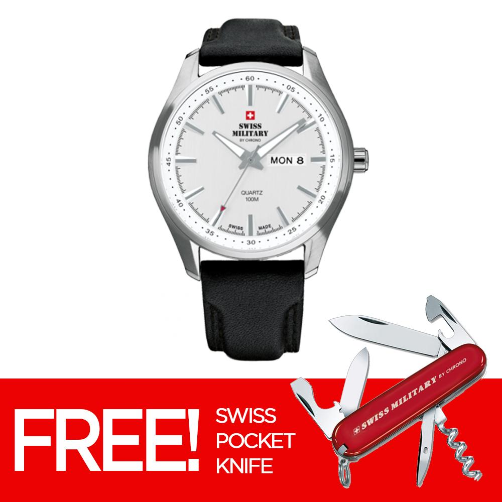 Swiss Military by Chrono Mens Stainless Steel 3-Hand Silver Stainless Steel  Watch SM34027. 5638e8518e