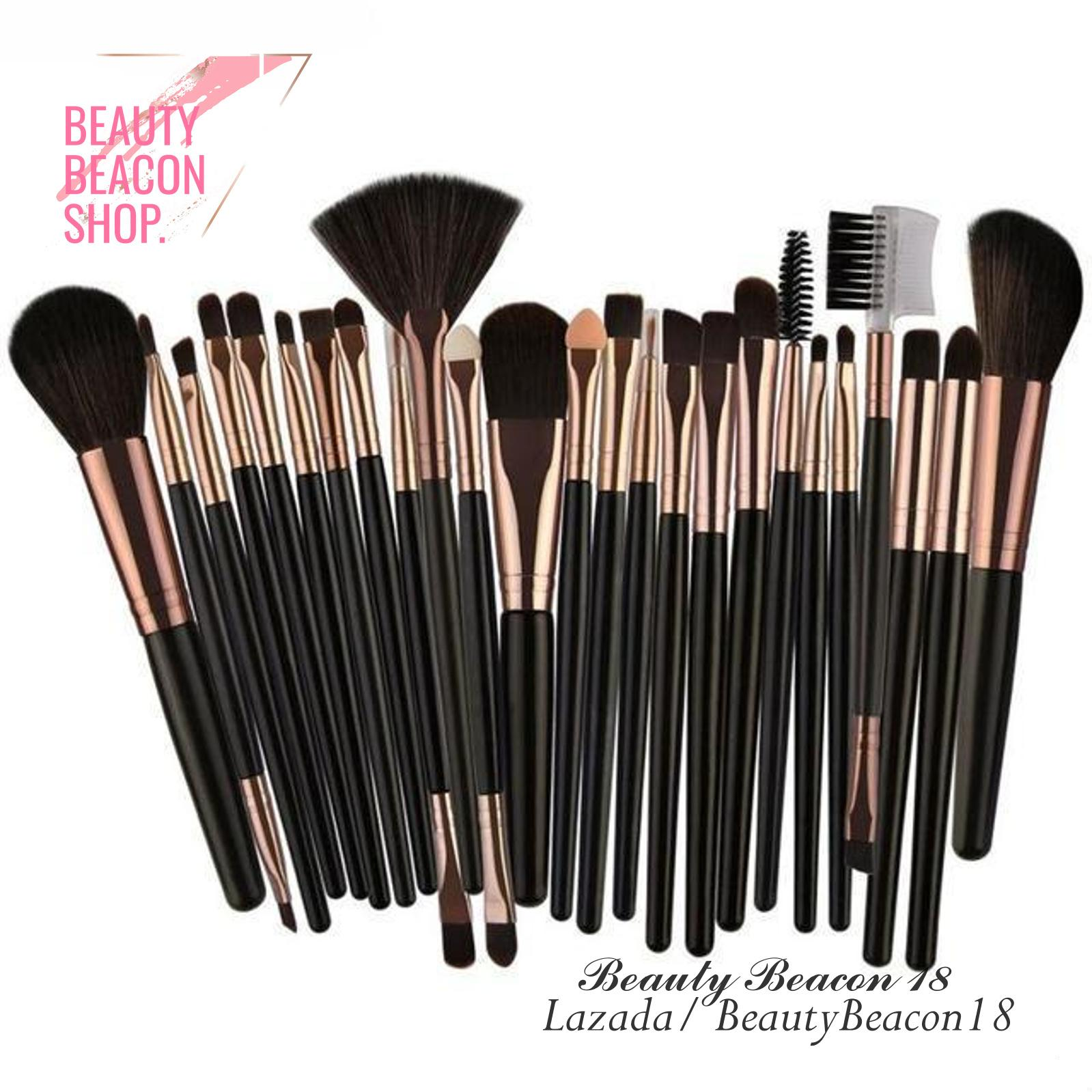 Professional Make Up Brush Set 25 Pcs ( Black Gold ) Philippines