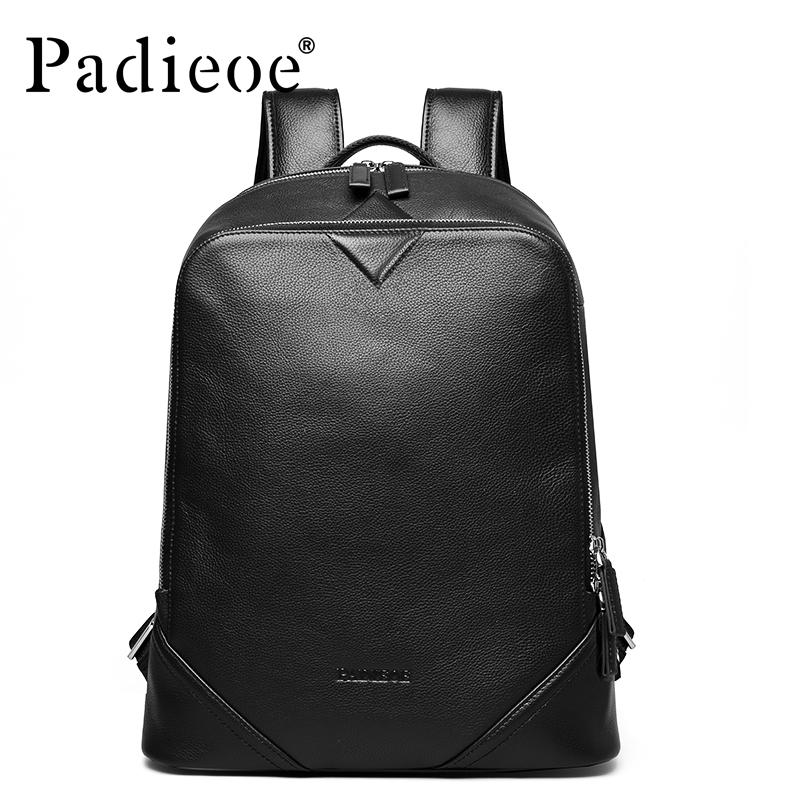 Luggage & Bags 2017 New Fashion Brand Genuine Leather 15inches Brown Mens Backpacks Cowhide Shoulder Bag Hot Sales School Bag Travel Backpack