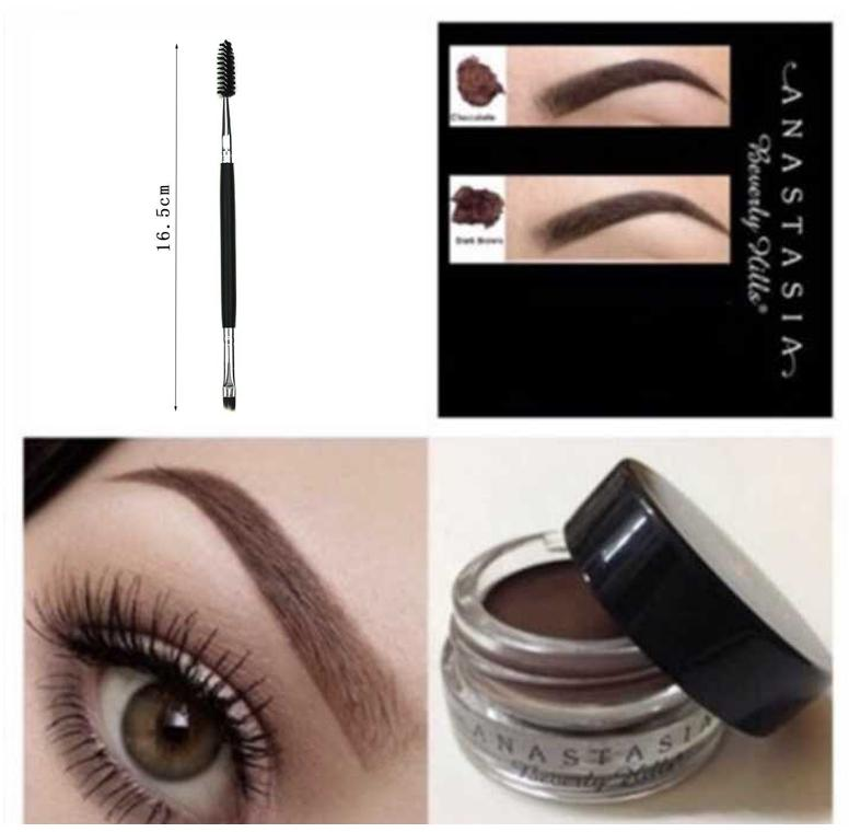 Anastasia Beverly Hills Dipbrow Pomade ( DARK brown) with free anastasia eyebrow brush-EDISON ONLINE SHOP Philippines