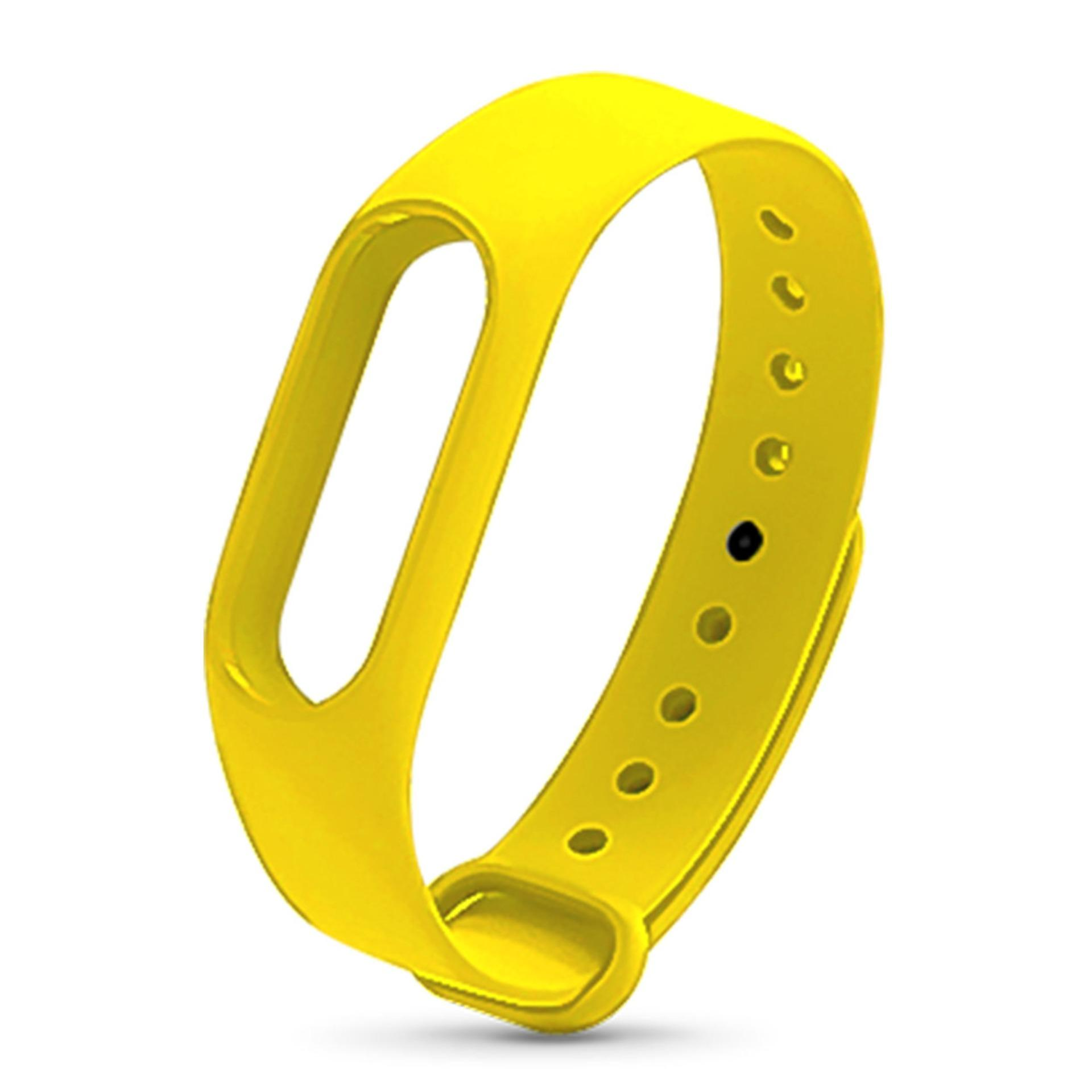 Xiaomi Mi Band 2 Replacement Jelly Watch Band Wrist Strap (yellow) By Hellotronics.